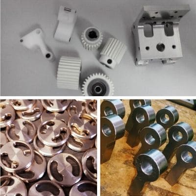 Production of mechanical parts